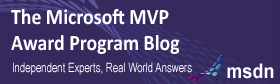 MVP Blog Badge.